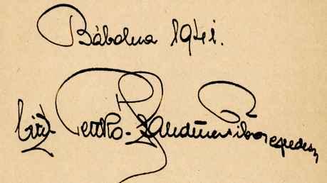 Stutbuch des Gestütsleiters Tibor von Pettko-Szandtner 1941