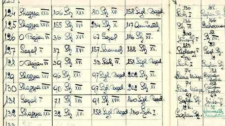 Auszug aus dem persönlichen Stutbuch des Gestütleiters von Babolna, Tibor von Pettko-Szandtner